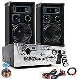 Party Musikanlage PA Lautsprecher USB SD MP3 Hifi Verstärker Kabel DJ-694