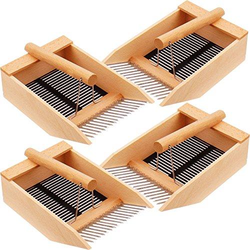 4x peigne cueille myrtilles de proheim - Peigne à myrtilles en métal et bois de hêtre massif