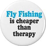 Fliegen Angeln ist billiger als Therapie 2,25Flaschenöffner w/Schlüsselanhänger von A & T Designs