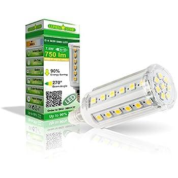 LumenStar® LED E14 Lampe 7,5 Watt - 750lm, 3000K warmweiß, 270° Abstrahlwinkel, ersetzt 60W - Firenze