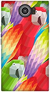 The Racoon Grip Parrots hard plastic printed back case / cover for Blackberry Priv