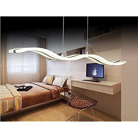 KASY-LED® - Lámpara de techo colgante acrílica, 38W, 220V-240V, luz blanca fría, para comedor