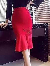 mayihang vestido falda de la mujer Club Vintage Plus tamaño Trompeta sirena Bodycon faldas, sólido