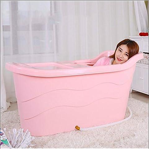 YUGANG Bambini oversize Vasca Extra Large plastica dura idromassaggio per adulti bagno Barrel Vasca da bagno vasca da bagno con isolamento di copertura può sedere ( colore : 3# )