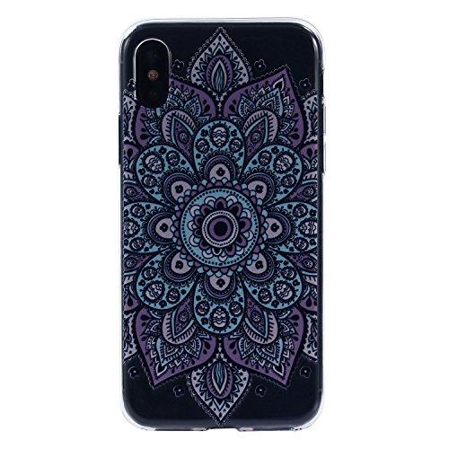 iPhone X Hülle, Voguecase Silikon Schutzhülle / Case / Cover / Hülle / TPU Gel Skin für Apple iPhone X(Specht) + Gratis Universal Eingabestift Teppich 12