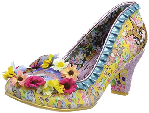 Irregular Choice Damen I'm Thumpin Pumps, Mehrfarbig (Yellow Multi A), 36 EU