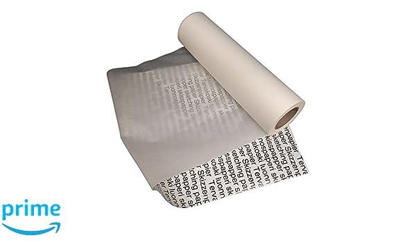 weiß 50 g//qm Skizzenpapier OfficeTree 50 m Skizzenrolle 40 cm breit