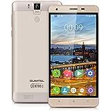 "Oukitel K6000 Pro - Smartphone móvil libre Android 6.0 (Pantalla 5.5"", 32GB ROM, 3GB RAM, Octa-Core, 13MP Cámara, Lector de huellas dactilares, Resolución 1280 x 720 HD), Dorado"