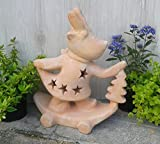 Nikolaus 38 cm hoch, echt Terracotta Terrakotta Garten Deko Elfe Kopf Figur Weihnachten
