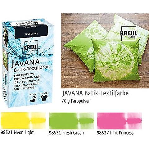 batik Colores–Set, 3tela batik Colores en colores oscuros