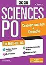 Concours Sciences Po - Concours commun + Grenoble 2020 - A jour de la réforme - Tout-en-un par Laurent