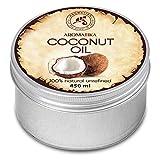 Kokosöl 450ml - Cocos Nucifera - Indonesien - Kaltgepresst - 100% Rein & Natürlich - Kokosnussöl - Unraffiniert - Körperbutter - Pflege für Gesicht - Haare - Körperpflege - Coconut Oil von Aromatika