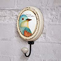 Eeayyygch Retro Old Bird Parrot Decoration Hook/Clothing Store Creative Clothing Hat Hook/Clothes Hook-C