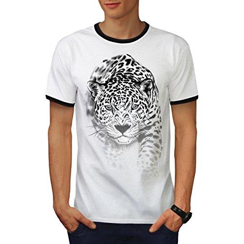 Puma Puma Mörder Katze Jagd Herren L Ringer T-shirt | Wellcoda (Türkei-jagd-t-shirt)
