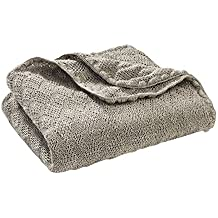 """Disana Baby Rug - Knitted made of 100% organic wool, Size 100x80cm - Grey, 31.50""""x39.37"""""""