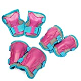 Apollo Protektoren Set für Kinder, Schoner für Knie Ellenbogen Handgelenk - Pink