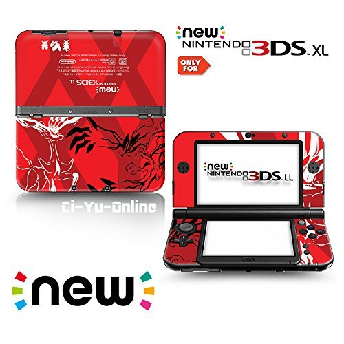 [new 3DS XL] Pokemon XY Red Limited Edition VINYL SKIN STICKER DECAL COVER for NEW Nintendo 3DS XL / LL Console System by Ci-Yu-Online