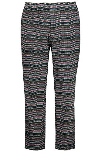 Ulla Popken Damen große Größen Pyjama-Hose Multicolor 42/44 720892 90-42+