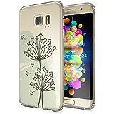 Samsung Galaxy S7 Edge Coque Protection de NICA, Housse Motif Silicone Portable Premium Case Cover Transparente, Ultra-Fine Souple Gel Slim Bumper Etui pour S7-Edge, Designs:Dandelion Bubbles
