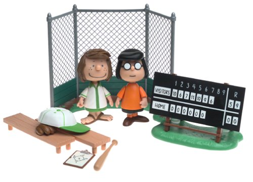 Peanuts - Marcie & Patty in the Baseball Dugout (Baseball Dugout)