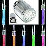 3 colori cambiano cucina acqua rubinetto rubinetto RGB Glow doccia rubinetto LED luce temperatura controllo -7 colori