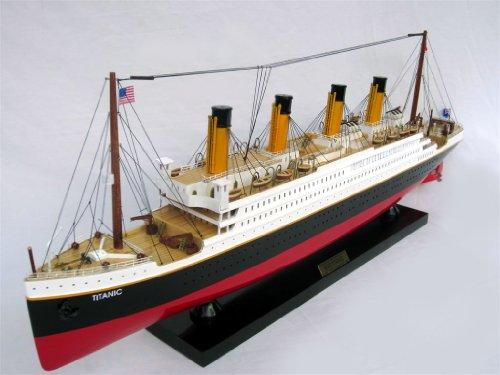 Preisvergleich Produktbild Modellschiff TITANIC, Schiffsmodell aus Holz, Handarbeit, Spantenbauweise, Modell; Länge 80 cm