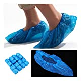 #8: 100Pcs Disposable Plastic Thick Outdoor Rainy Day Carpet Cleaning Shoe Cover