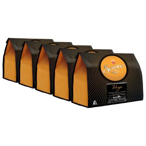 Senseo Kenya, Nuovo Design, Set di 5 Confezioni x 16 Cialde di Caffè Arabica