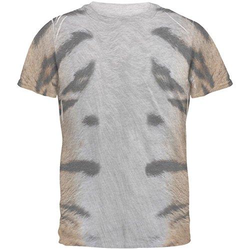 Halloween-Tiger Kostüm Herren-T-Shirt Heather weiss (Kostüm Heather Halloween)