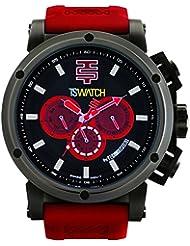 Techno deportiva para hombre Chrono reloj - negro/rojo