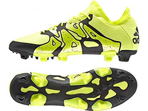 adidas X15.1 FG/AG, Chaussures de football homme, Jaune (solar Yellow/solar Yellow/core Black), 42