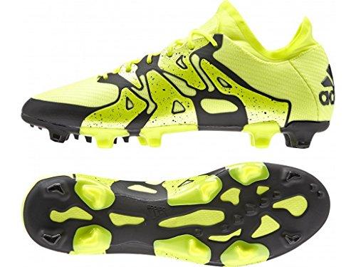 adidas Herren X15.1 FG/AG Fußballschuhe, Gelb Solar Yellow/Core Black), 44 2/3 EU