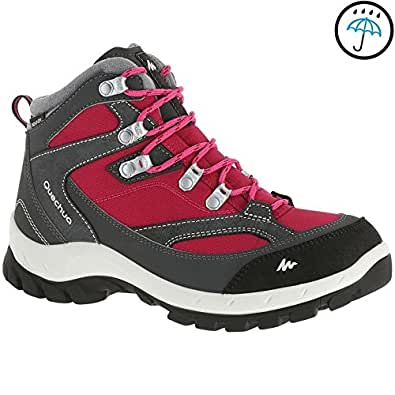 Quechua Forclaz 100 High Women's Waterproof Walking Boots - Pink(EU 36)
