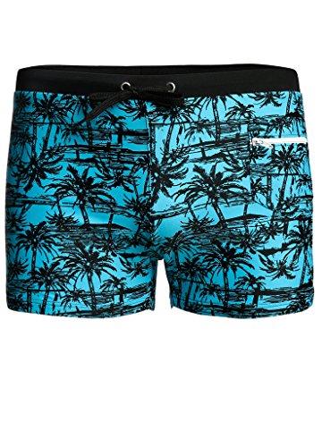 OUO Badehose Herren Männer Schwimmhose Surfhose Wassersport kurze Hose Blau 01