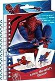 PinkWebShop - Blocco per disegnare di Spiderman, 10 x 15 cm, con penne a fibra e adesivi