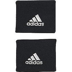 adidas WB S Tennis Wristband, Unisex Adulto, Black/White, OSFM