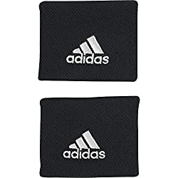 adidas Tennis Sweatband, Black / White, OSFM