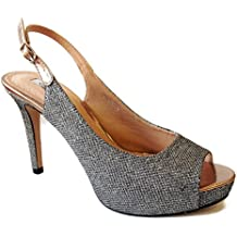 Zapato Tacón Alto Plata D'Angela