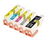 iColor Tintenpatronen: ColorPack für Epson (ersetzt T2638 / 26XL), BK/PBK/C/M/Y (Multipacks Kompatible Druckerpatronen für Tintenstrahldrucker, Epson)