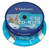 Verbatim 25er Spindel CD-R 52x, 700 MB, Printable