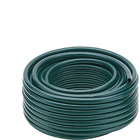 50m Garden Hose Pipe Reel Reinforced Tough 50 Metre Outdoor Hosepipe Green Suitable For All Garden Watering Tasks Patio Or Vehicle Cleaning Brand