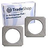 2x Hochwertiges Reinigungs-Pad/Mikrofasertuch/Wischtuch waschbar für Ecovacs Winbot W-950 W950 W950-SW