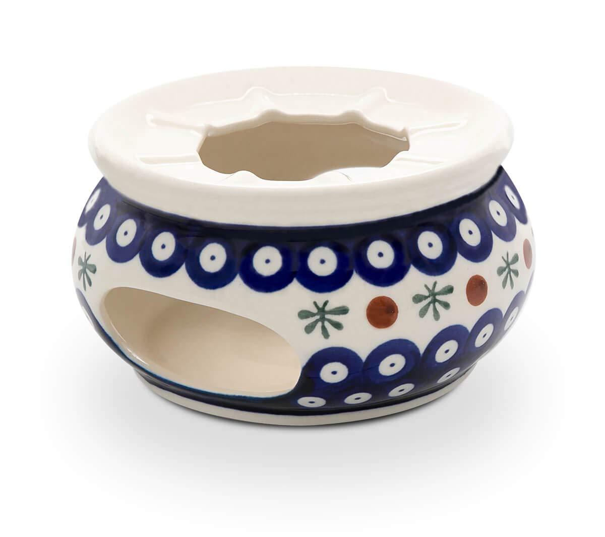 Blue Rose Polish Pottery Nature Teapot Warmer