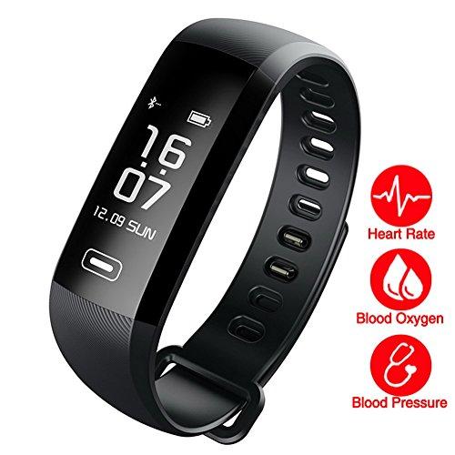 Fitness Tracker Uhr Armband Schrittzähler Ladekabel usb| Erhebung Blutdruck, Kalorienmesser, körperliche Aktivität, Schlaf. Ladekabel USB Verbindung mit IOS/Android via Bluetooth