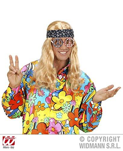 BRILLE - PEACE & LOVE -, Woodstock Festival Flower Power Hippies 60er 70er Jahre (Flower Kostüm Power 60)