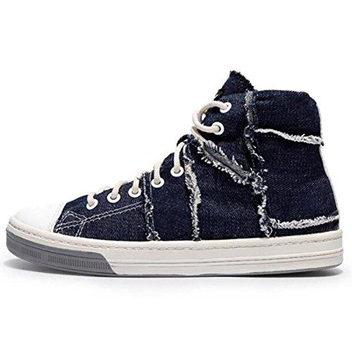 Syyan Women's Punk Canvas Seam High Top Sneakers Zapatos De Ocio Al Aire Libre, 3, 42 3