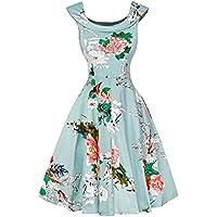 Damen A-Linie 50er Vintage Abendkleid Rockabilly Kleid Knielang Festliches Pin Up Kleid Partykleider Cocktailkleider
