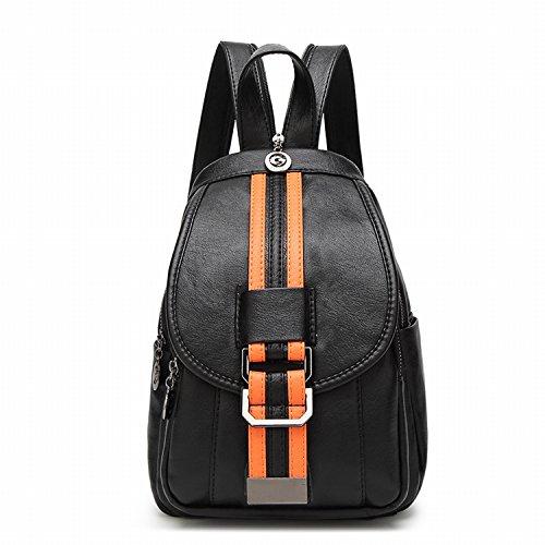 Weibliche Brust Tasche Mode Weichen Leder Schulter Tasche Rucksack Freizeit Reise Multifunktions Dual - Use - Paket Braune Bar