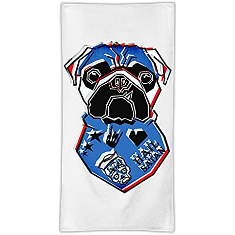 Inked Dog Asciugamano in microfibra MicroFiber Towel W/ Custom Printed Designs| Eco-Friendly Material| Machine Washable| 50x100 cm | Premium Bathroom Supplies By 50x100 cm Hamerson