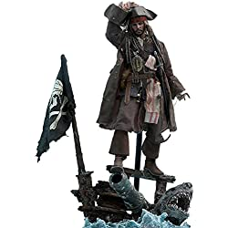 Hot Toys Captain Jack Sparrow Sixth Scale Figure Pirates of the Caribbean: Dead Men Tell No Tales - DX Series Movie Masterpiece Johnny Depp Action Figure